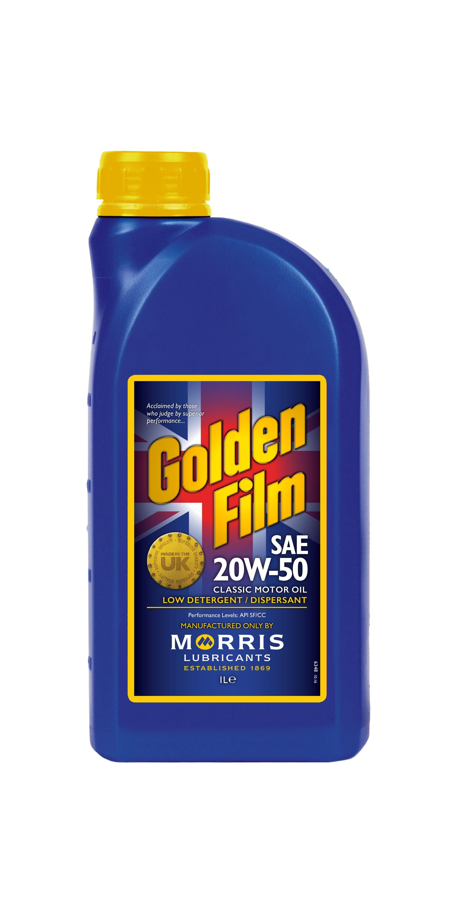 Morris lubricants golden film sae 20w 50 classic motor oil for Motor oil for older cars